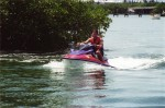 Jet skiing in Key West.