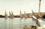 Sailing down the Nile in a Felucca.
