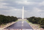 Reflecting the Washington Memorial.