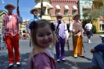 Taylor enjoying the street musicians at Disney.