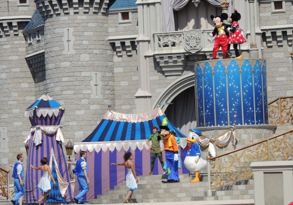 Mickey and Minnie at the castle