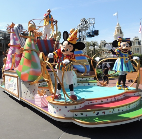 Mickey and Minnie float.