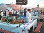 Fast food stalls, Marrakesh night market