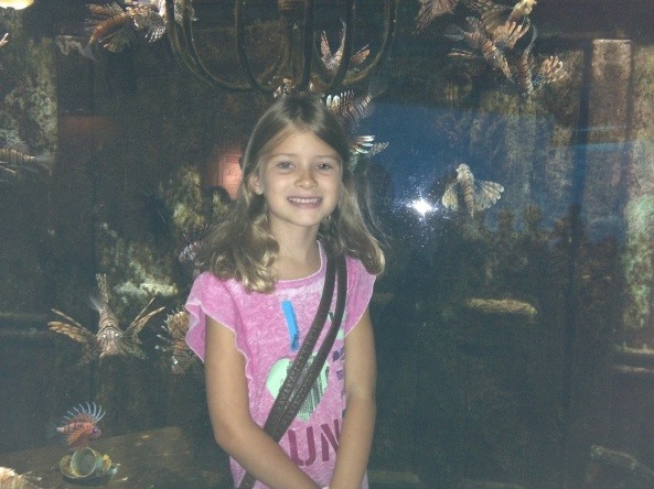 Sienna's visit to the aquarium in South Africa.